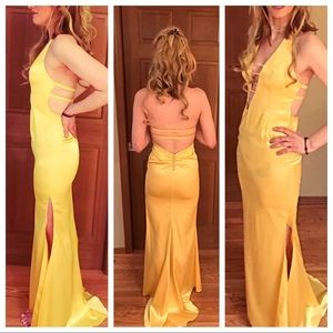 Yellow Formal  Gown